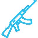 air rifle icon blue