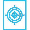 shooting target icon blue ipsc australia